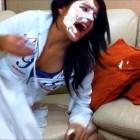 Shaving cream prank (sleeping prank, funny jokes, prank to asleep, scare sleeping girl)