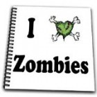 EvaDane – Funny Quotes – I love zombies. – Drawing Book – Drawing Book 8 x 8 inch