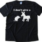 I DON'T GIVE A RATS ASS – Tee Shirt Gildan Softstyle Black (XL)
