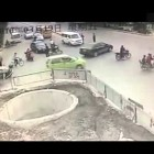 Funny way of driving motorbike