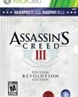Assassin's Creed 3 III: Revolution Edition [Xbox 360 ALL BONUS CONTENT INCLUDED] NEW