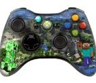 "Xbox 360 controller (modded), "" Minecraft "" skin , Three additional modes (10 Modes Dual Rapid Fire + Fast Aim Mode (quick scope) + Central Button Light) Wireless Original Microsoft controller ,works Best with MW1.2.3 , COD , BATTLEFIELD , HALO…Contains extra button!"
