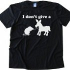 I DON'T GIVE A RATS ASS – Tee Shirt Gildan Softstyle Black (Large)