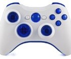 GM Master Mod: Quickscope, Drop shot, Auto-aim, Jitter, Fast Reload, + MORE Xbox 360 Modded Controller COD GHOST, Black Ops 2, Rapid fire (White/Ice Blue)