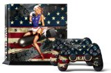 PS4 Console Designer Skin for Sony PlayStation 4 System plus Two(2) Decals for: PS4 Dualshock Controller – Battle Torn Stripes Reviews