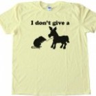 I DON'T GIVE A RATS ASS – Tee Shirt Gildan Softstyle Light Yellow (Large)