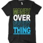 (Cybertela) Money Over Everything Men's T-shirt Funny Catchphrase Tee (Black, 2X-Large) Reviews