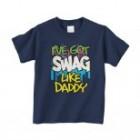 Threadrock I've Got Swag Like Daddy Infant T-Shirt 12M Navy