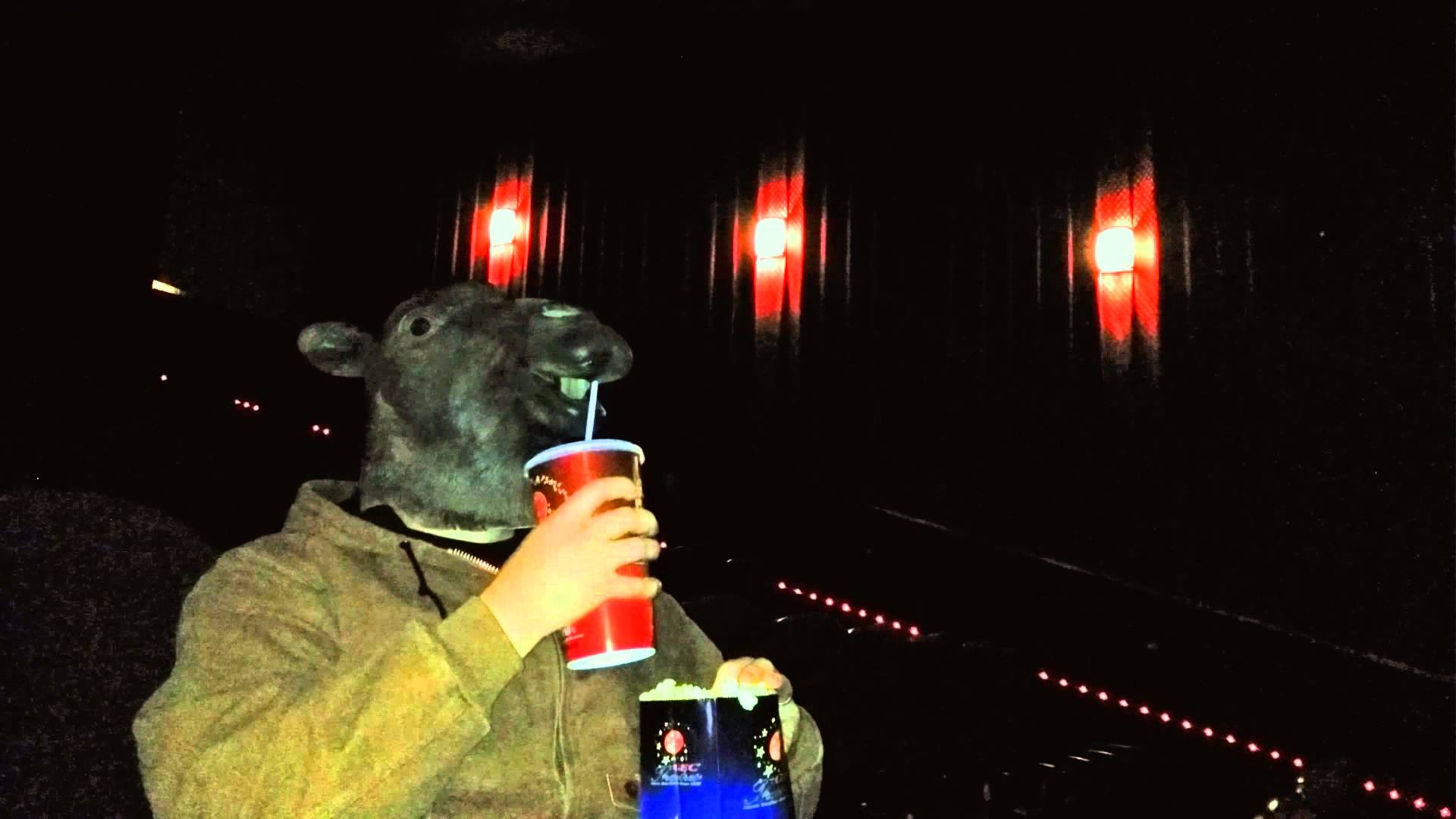 Funny Hump Day Camel Mask In Movie Theater Geico Camel Movie Day