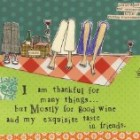 Ideal Home Range 20 Count Boston International 3-Ply Paper Cocktail Napkins, Curly Girl Design Thankful For