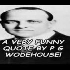 A Very Funny Quote By P G Wodehouse!