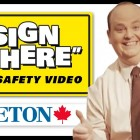 """Funny Sign Safety Video – """"Sign Here"""""""