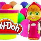 Маша и Медведь PlayDoh сюрприз яйца Masha i Medved PlayDoh Surprise eggs unboxing