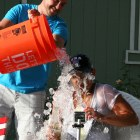 LAPD Officer takes ice bucket challenge to the next level – 61+ Buckets poured over her !