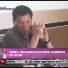 News@1: Davao Mayor Duterte, tinanggihan ang 'ALS Ice Bucket' challenge ni Sec. De Lima