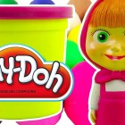 Masha i Medved PlayDoh Surprise eggs unboxing Маша и Медведь PlayDoh сюрприз яйца
