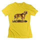 JiJa Womens Lovable Pet Dog T-shirt Yellow XL